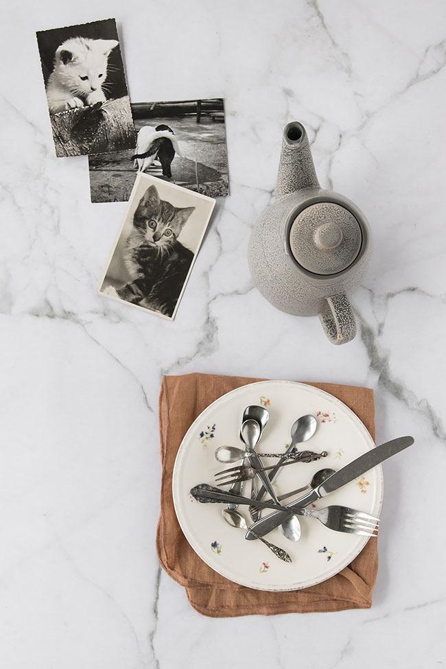 Marmer backdrop van vinyl, voor flatlay en foodfotografie